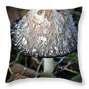Shaggy Mane Throw Pillow
