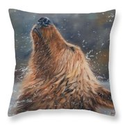 Shake It Throw Pillow by David Stribbling