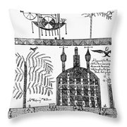 Shaker Drawing, 1845 Throw Pillow