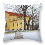 Shaker House - Mustard Throw Pillow