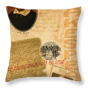 Shakespeare 2 Throw Pillow