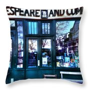 Shakespeare And Company Paris France Throw Pillow