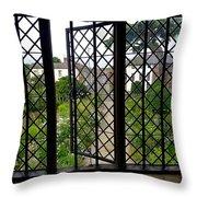 View Through Shakespeare's Window Throw Pillow