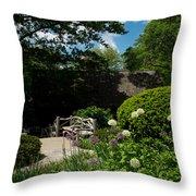 Shakespeares Garden Central Park Throw Pillow