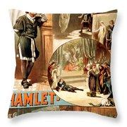 Shakespeare's Hamlet 1884 Throw Pillow