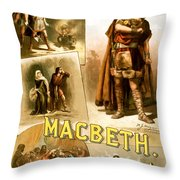 Shakespeare's Macbeth 1884 Throw Pillow