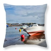Shaldon-teignmouth Harbour 3 Throw Pillow