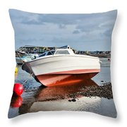 Shaldon-teignmouth Harbour Throw Pillow