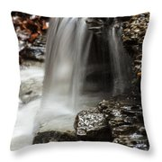 Shale Creek Waterfall Throw Pillow