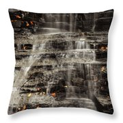 Shale Waterfalls Cascade Throw Pillow