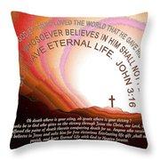 Jesus, Cross 117 Throw Pillow