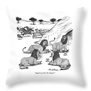 Shall We Join The Ladies? Throw Pillow by J.B. Handelsman