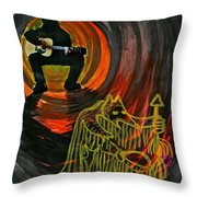 Shaman Blues Throw Pillow