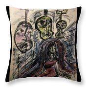 Shame Doubt Insecurity Our Own Worst Enemies Throw Pillow by Mimulux patricia no No