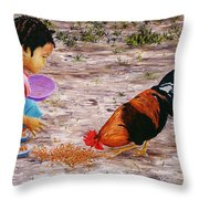 Shamika Throw Pillow by Victor Collector