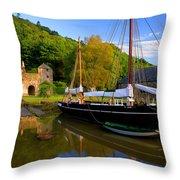 Shamrock Barge Throw Pillow