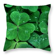 Shamrock Green Throw Pillow by Patricia Strand
