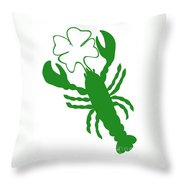 Shamrock Lobster With Feelers 458 20120114 Throw Pillow