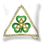 Shamrock Trinity Throw Pillow