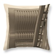 Shanghai Building In Abstract Throw Pillow