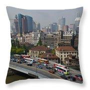 Shanghai, China Throw Pillow