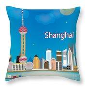 Shanghai Throw Pillow by Karen Young