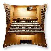 Shanghai Organ Console Throw Pillow