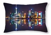 Shanghai Reflections Throw Pillow