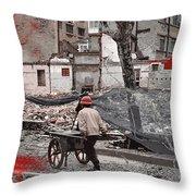 Shanghai Street Creation Throw Pillow