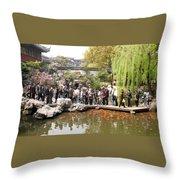Shanghai Yuyuan Garden Throw Pillow