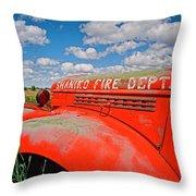 Shaniko Fire Truck Throw Pillow