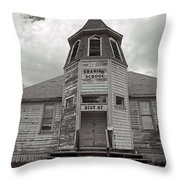 Shaniko School Throw Pillow
