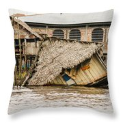 Shanty Town Disaster Throw Pillow