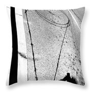 Shape And Shadow No.50 High Contrast Version Throw Pillow