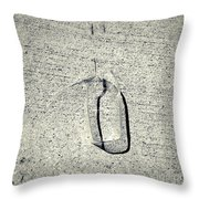 Shape No. 28 Gray Scale Version Throw Pillow