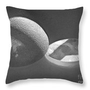 Shape No.18 Gray Scale Version Throw Pillow