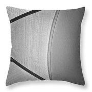 Shape No.3 Light Gray Scale Throw Pillow
