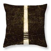 Shape No.35 Brownish Version Throw Pillow