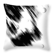 Shape Of The Rain Throw Pillow
