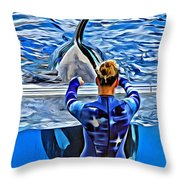 Shapely Orca Throw Pillow