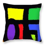 Shapes 14 Throw Pillow