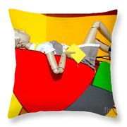 Shapes And Style Throw Pillow