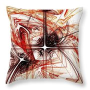 Shapes And Symbols Throw Pillow