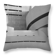 Shapes Of The Guggenheim In Black And White Throw Pillow