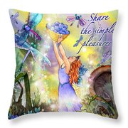 Share The Simple Pleasures Throw Pillow