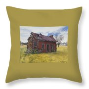Sharecroppers Shack Throw Pillow