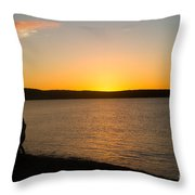 Shared Silhouette Throw Pillow