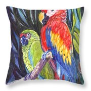 We Are Sharing A Perch  Throw Pillow