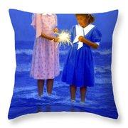 Sharing A Sparkler  Throw Pillow