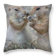 Sharing Is Caring Throw Pillow